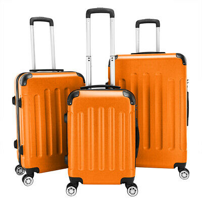 3pcs Travel Spinner Luggage Set 3in1 Bag ABS Trolley Carry On Suitcase w/Cover ~