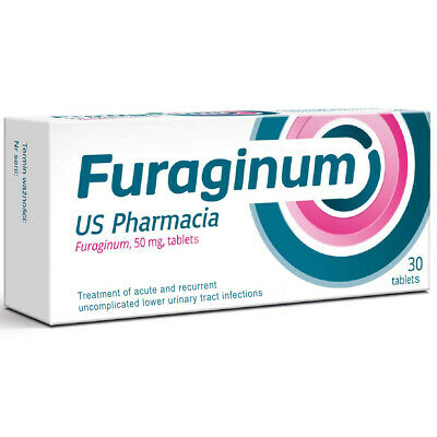 US Pharmacia Furaginum 50mg Urinary Tract Infection 30 Tablets Pack