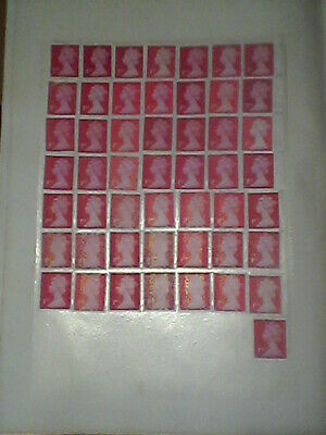 100 Unfranked 1st Class Stamps Off Paper *WITH ORIGINAL GUM* Easy Peel & Stick