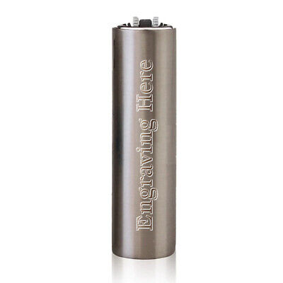 Personalised Clipper Cigarette Lighter Matte Silver Engraved Christmas Gift