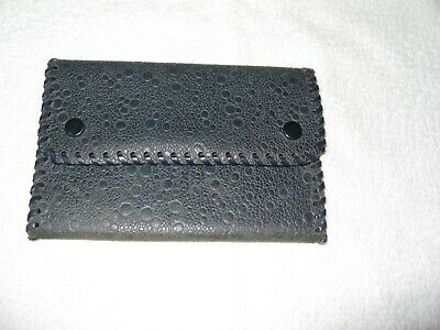Vintage/Collectable Black ? Leather Trifold Wallet/Purse 1950'S Unused