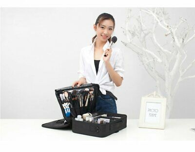 16'' Professional Makeup Bag Portable Cosmetic Case Storage Box Handle Organizer