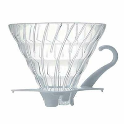 Hario V60 Coffee Dripper Heat-resistant glass For 1-4 Cups VDG-02W White Japan