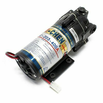 """Booster Pump For Reverse Osmosis 400GPD with Power Supply and 1/4"""" Fittings"""