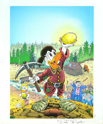 Don Rosa Lithografie / Lithograph - The King Of The Klondike Signed / Signiert