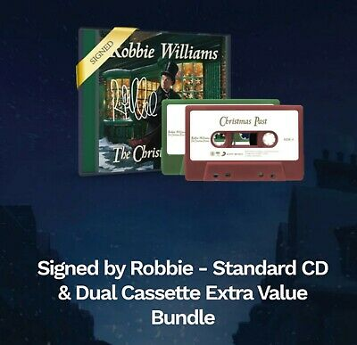 Robbie Williams - The Christmas Present SIGNED CD and Dual Cassette NEW