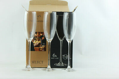 Champagne Select Flute 180 ml glass Chef Sommelier  1 case of 24 glasses