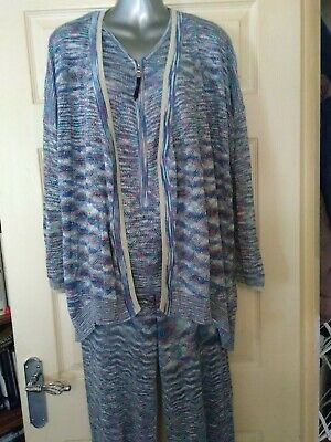 Odemai 3 Piece Set, Trousers,Top And Jacket Size 2 -(Uk 10-12)