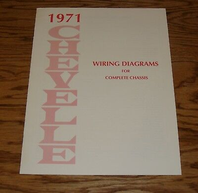 1971 Chevrolet Chevelle Wiring Diagram Manual for Complete Chassis 71 Chevy