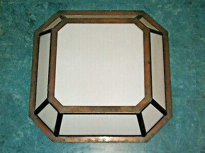 Skyscraper Art Deco / Arts Crafts Large Frosted Glass Solid Copper Light Fixture