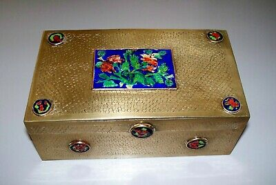 Antique  Chinese  Brass  &  Enamel  Box    circa 1910