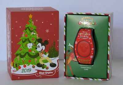 Disney Mickey's Very Merry Christmas Party 2019 Red Castle Magic Band In Hand