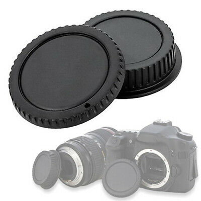 Kit Cap Cover Rear Lens Body Camera Compatibile X Canon Eos 4000D 200D 77D 800D