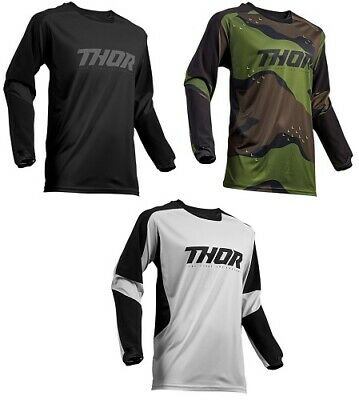 Thor Men's Terrain Offroad MX Motocross Motorcycle Jersey All Colors & Sizes