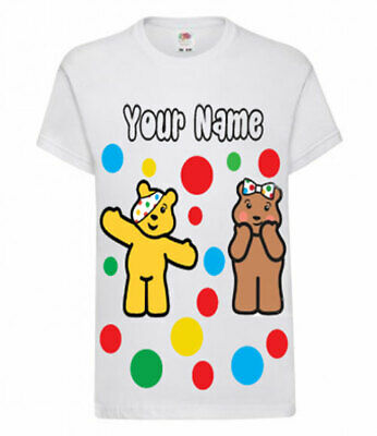 Personalised Children In Need 2019 Pudsey Dress Up Boys Girls School T shirt Top