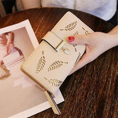 new Women Clutch Leather Wallet Long Card Holder Phone Bag Case Purse lady