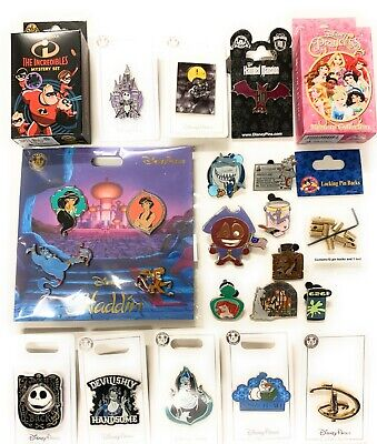 Disney Parks 25 Pc Pin Locks Lot Trading Hidden Mickey Mystery Starter Set - NEW