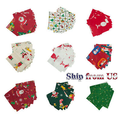 "Christmas Fabric Charm Pack Lot 100 5"" SQUARES Holiday Quilting Fabric Decor"