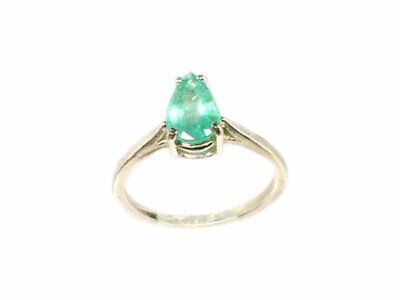 Ancient Egyptian Queen Cleopatra Gemstone Emerald Ring Antique Pear Gemstone