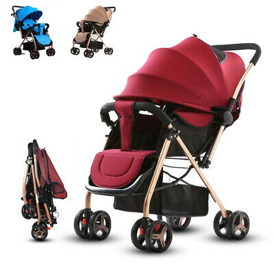 Big Size Portable Folding Children's Trolley Four Wheel Baby Stroller