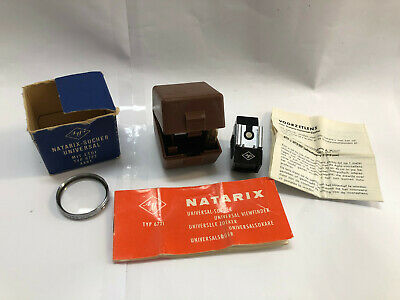 Agfa Natarix Universal Viewfinder + Agfa 35.5mm Lens + Boxes/Case + Instructions