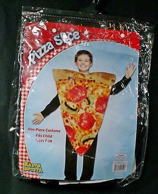 Childs Pizza Slice Costume Boys Girls Novelty Food Fancy Dress Kids Outfit