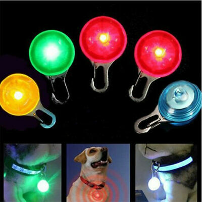 1x Mini Pet Dog Cat Puppy LED Flashing Collar Safety Night Light Keyring Pendant