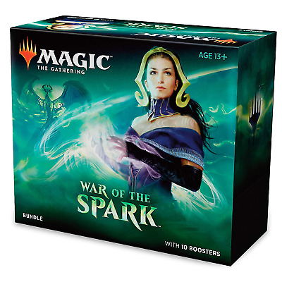 Mtg Magic The Gathering War Of The Spark Bundle Factory Sealed Box *10 Boosters*