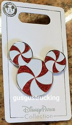 New Disney Parks (2019 Christmas - Mickey Ear Candy Cane) Open Edition Pin