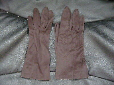 Pair Of Vintage Ladies Gloves Dark Brown Dent Fownes