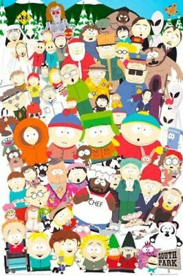 SOUTH PARK - CHARACTER COLLAGE Art Silk Poster 12x18 24x36
