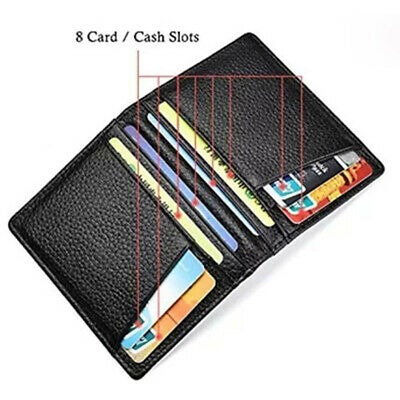 Men's Wallet Super Slim Soft Genuine Leather Thin Mini Credit ID Card Holder