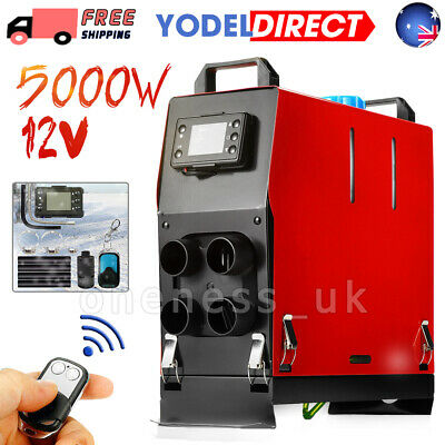 5KW 12V Diesel Air Heater All In One Low Noise New Remote Control Low Vibration