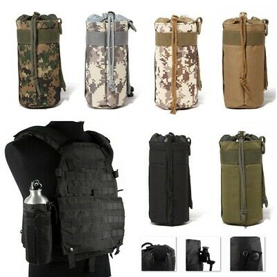 New Outdoor Molle Utility Pouch Bottle Tactical Military Bag Water Kettle Holder
