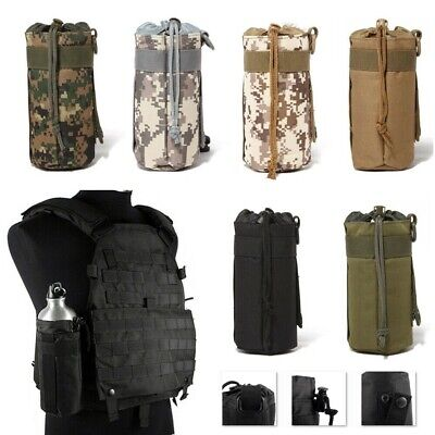 Outdoor Molle Bottle Bag Utility Pouch Tactical Military Bag Water Kettle Holder