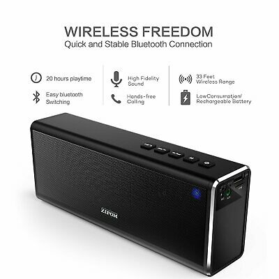 20W 4000mAh Portable Wireless Bluetooth Speaker Stereo BASS TF USB Mic FM Radio