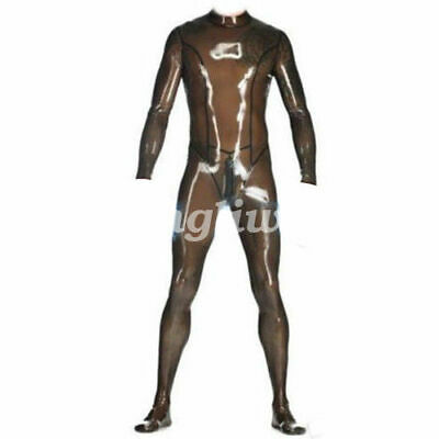 Latex Catsuit Rubber fashion Tights uniform Gummi Cosplay Party Overall Bodysuit