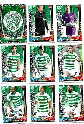 Mint Celtic 2019 / 20 Spfl Match Attax Football Trade Cards Team Set.