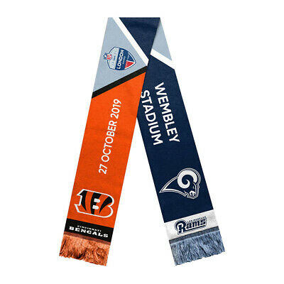 FOCO NFL London Games 2019 Scarf Cincinnati Bengals VS Los Angeles Rams