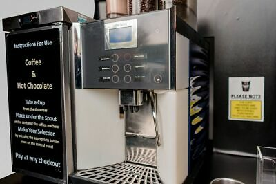 WMF Bean to Cup Commercial Coffee Machine - With Fridge, 650mm Display and Stock