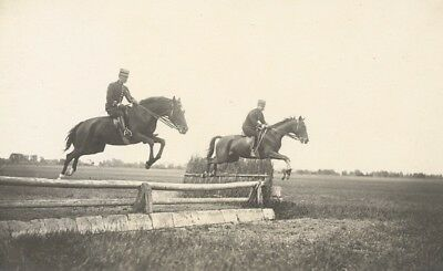 Verrie Military French Horse Instantaneous Photo 1910 Chevaux Saut Obstacles