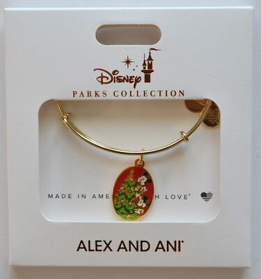 Disney Parks 2019 Mickey's Very Merry Christmas Party Alex and Ani Bracelet NEW