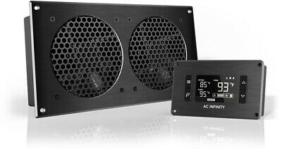 AC Infinity AIRPLATE T7 Quiet Cooling Fan System with Thermostat Control for H