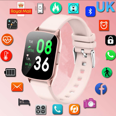 Smart Watch Heart Rate Blood Pressure Tracker iPhone Samsung For Woman Men IP67