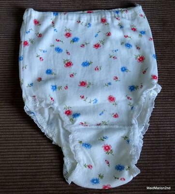 SUPRANA VINTAGE GIRLS FLORAL PRINT COTTON KNICKERS PANTIES Size 12 NEW