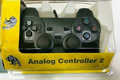 PS2 TWIN SHOCK Wired Controller Playstation PS2 Controller Pad Black