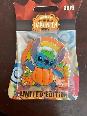 DISNEY MICKEY'S NOT SO SCARY HALLOWEEN PARTY 2018 STITCH PUMPKIN LE PIN Spinner