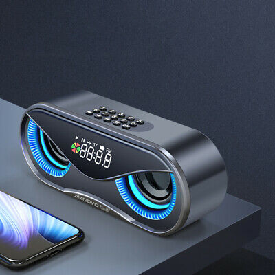Portable Wireless Bluetooth 5.0 Portable Speakers Enhanced Bass Rechargeable LED