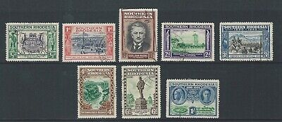 Southern Rhodesia 1940 Used Golden Jubilee of British South Africa sg 53/60