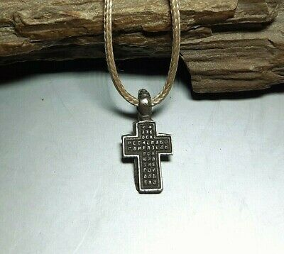 Rare Ancient Antique Silver Religion Russian Orthodox Old Cross 18-19th Cnt#2557